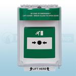 STI-13010EG Universal Emergency Stopper Flush Mount (Green)