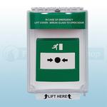 STI-13020EG Universal Emergency Stopper Flush Mount with Sounder (Green)