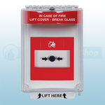STI-13020FR (STI-6532) Universal Fire Alarm Stopper® Flush Mount with Sounder (Red)