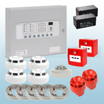 Premium Conventional Kentec 2 Zone Fire Alarm Kit - Hochiki