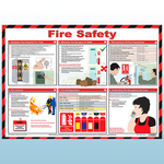 Fire Safety Laminated A3 Poster