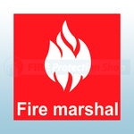 50mm x 50mm Fire Marshal Self Adhesive Helmet Sticker