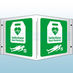 350 x 200mm AED Automated External Defibrillator Rigid Plastic 3D Projecting Sign