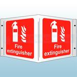 430 x 200mm Fire Extinguisher Rigid Plastic 3D Projecting Sign