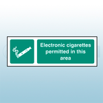 300 x 100mm Electronic Cigarettes Permitted In This Area Safety Sign