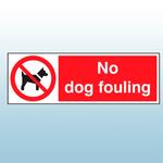 300mm x 100mm Self Adhesive No Dog Fouling Sign