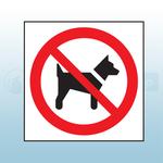 200mm x 200mm Rigid Plastic No Dogs Sign