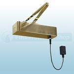 Responder 24 Electromagnetic Fire Door Closer In Electro Brass
