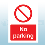 A4 210mm x 297mm Self Adhesive No Parking Sign