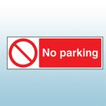 300mm x 100mm Polycarbonate No Parking Sign