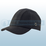 Black Safety Baseball Cap With Standard Peak
