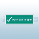 450mm X 150mm Rigid Plastic Push Pad To Open Sign 1