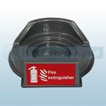 Single Grey Fire Extinguisher Plinth