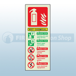 Portrait Photoluminescent Wet Chemical Fire Extinguisher Sign