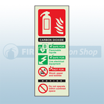 Portrait Photoluminescent Co2 Fire Extinguisher Sign