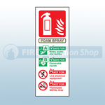 Portrait Self Adhesive AFFF Foam Fire Extinguisher Sign