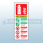 Portrait Rigid Plastic Wet Chemical Fire Extinguisher Sign