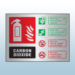 Prestige Landscape Co2 Fire Extinguisher Sign (Stainless Look)