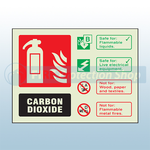 Landscape Photoluminescent Co2 Fire Extinguisher Sign