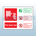 Landscape Rigid Plastic Fire Hose Reel Sign