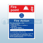 400mm X 600mm Rigid Plastic Portable Buildings & Caravan Site Fire Action Sign