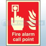 400mm X 300mm Photoluminescent Fire Alarm Call Point Sign