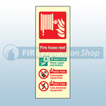 Portrait Photoluminescent Fire Hose Reel Sign