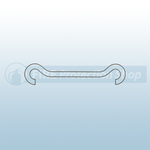2 x 150mm Double Hook Hanging Wire