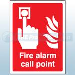 200mm X 150mm Rigid Plastic Fire Alarm Call Point Sign