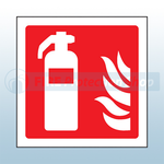 Fire Extinguisher Sign Rigid Plastic