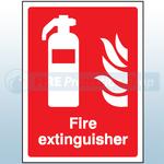 200mm X 150mm Rigid Plastic Fire Extinguisher Sign