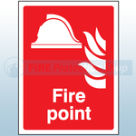 200mm X 150mm Rigid Plastic Fire Point Sign