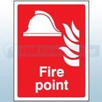 300mm X 250mm Rigid Plastic Fire Point Sign