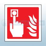 80mm X 80mm Rigid Plastic Fire Alarm Sign