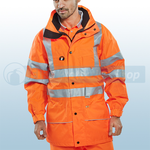 Railspec Orange Hi-Visibility Carnoustie Jacket