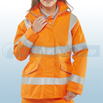 Railspec Orange Hi-Visibility Ladies Executive Jacket