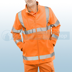 Railspec Orange Hi-Visibility Soft Shell Jacket