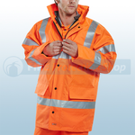 Railspec Orange Hi-Visibility 4 In 1 Jacket & Bodywarmer