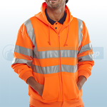 Railspec Orange Hi-Visibility Hooded Sweatshirt
