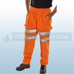 Railspec Orange Hi-Visibility Jogging Bottoms