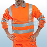 Railspec Orange Hi-Visibility Sweatshirt