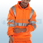 Railspec Orange Hi-Visibility Quarter Zip Sweatshirt
