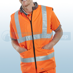 Railspec Orange Hi-Visibility Reversible Bodywarmer