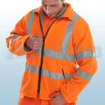 Railspec Orange Hi-Visibility Carnoustie Fleece