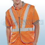 Railspec Orange Hi-Visibility Vest (Zip Front)