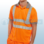 Railspec Orange Hi-Visibility Short Sleeve Polo Shirt