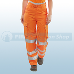 Railspec Orange Hi-Visibility Ladies Trousers
