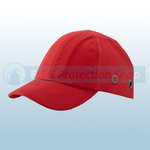 Red Safety Baseball Cap With Standard Peak