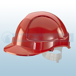 Red Vented Economy Safety Helmet