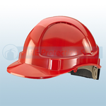 Vented Safety Helmet With Ratchet Harness